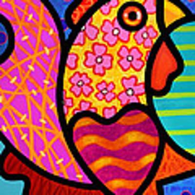 Rooster Dance Art Print