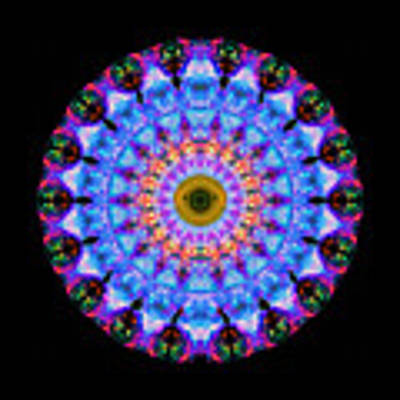 Sacred Crown - Mandala Art By Sharon Cummings Art Print
