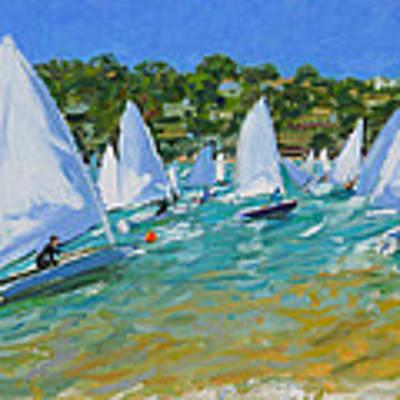Sailboat Race Art Print by Andrew Macara