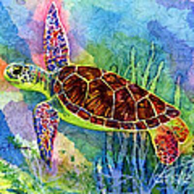 Sea Turtle Original by Hailey E Herrera