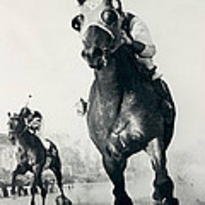 Seabiscuit Horse Racing #3 Art Print