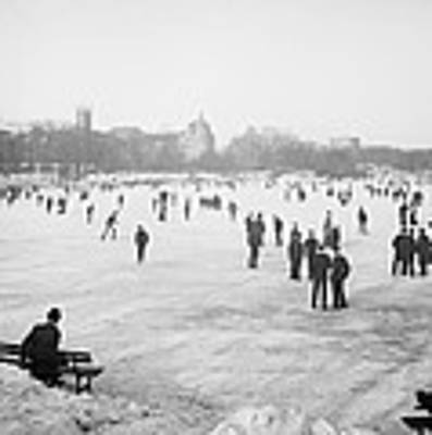 Skating In Central Park Art Print by Anonymous