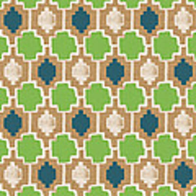 Sky And Sea Tile Pattern Art Print