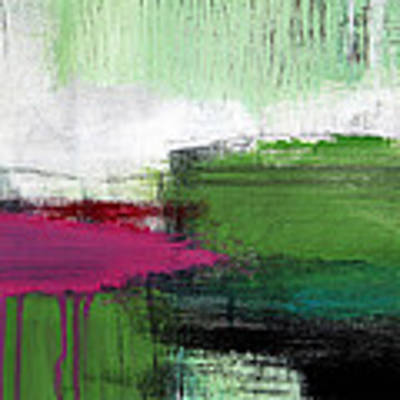 Spring Became Summer- Abstract Painting  Art Print by Linda Woods