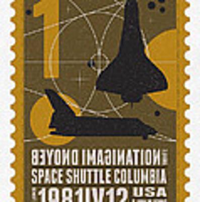 Starschips 01-poststamp - Spaceshuttle Art Print