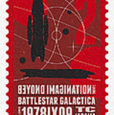 Starschips 02-poststamp - Battlestar Galactica Art Print