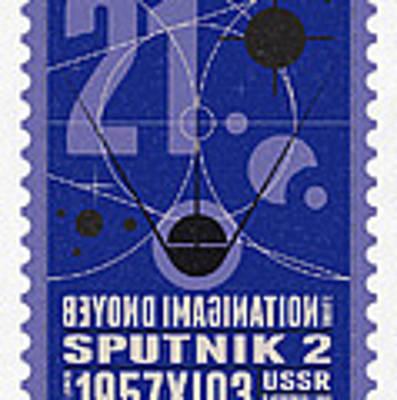Starschips 21- Poststamp - Sputnik 2 Art Print