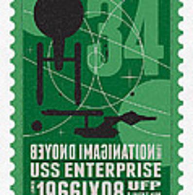 Starschips 34-poststamp - Uss Enterprise Art Print