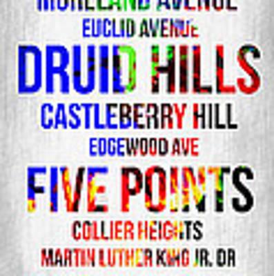 Streets Of Atlanta 1 Art Print