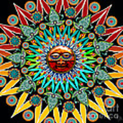 Sun Shaman Art Print by Christopher Beikmann