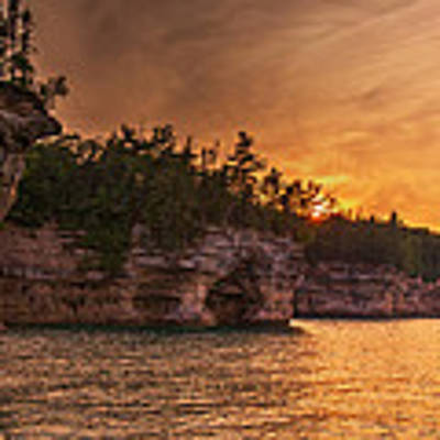 Superior Cliffs At Sunset Art Print by At Lands End Photography