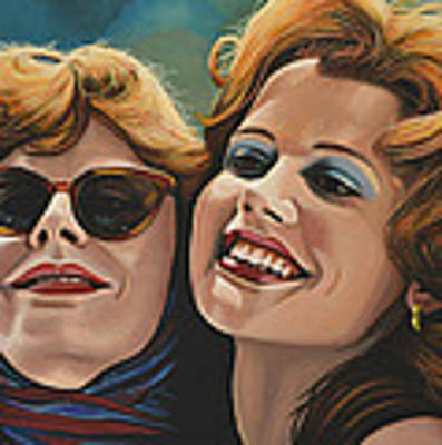 Susan Sarandon And Geena Davies Alias Thelma And Louise Art Print