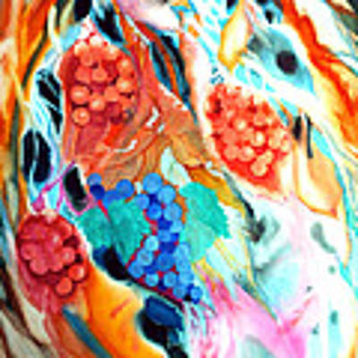 Swirling Grapes Art Print by Xavier Francois