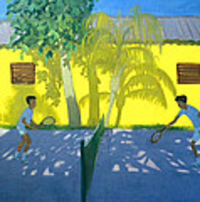 Tennis  Cuba Art Print by Andrew Macara