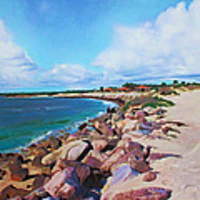 The Beach At Ponce Inlet Art Print by Deborah Boyd