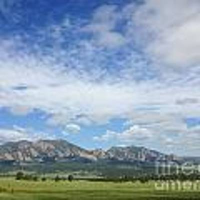 The Flatirons In Spring Art Print by Kate Avery