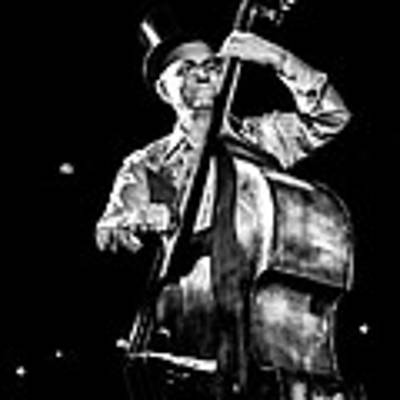 The Old Contrabass Player Art Print by Stwayne Keubrick