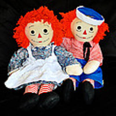 The Raggedy Twins Art Print by Donna Proctor