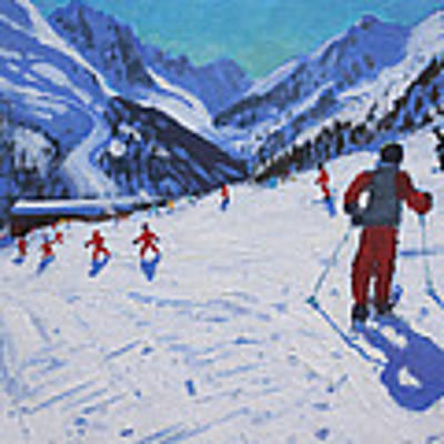 The Ski Instructor Art Print by Andrew Macara