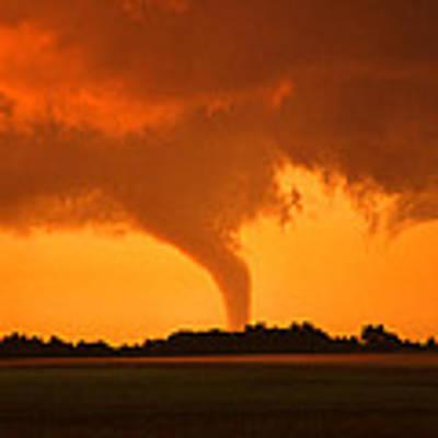 Tornado Sunset Art Print by Jason Politte