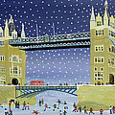 Tower Bridge Skating On Thin Ice Art Print