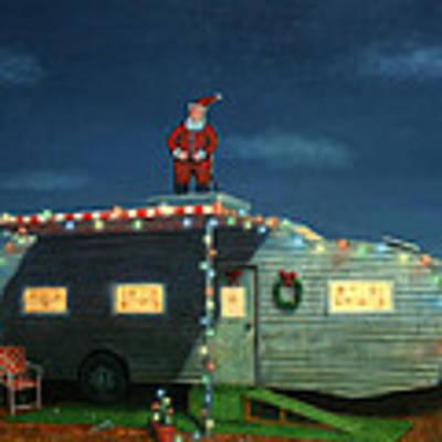 Trailer House Christmas Art Print