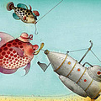 Underwater Story 04 Art Print