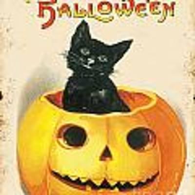 Vintage Halloween-k Original by Jean Plout