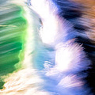 Wave Abstract Triptych 3 Art Print by Brad Brizek