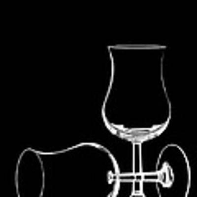 Wine Glasses  Art Print by Vickie Szumigala