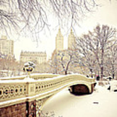 Winter - New York City - Central Park Art Print by Vivienne Gucwa