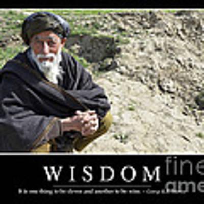 Wisdom Inspirational Quote Art Print by Stocktrek Images