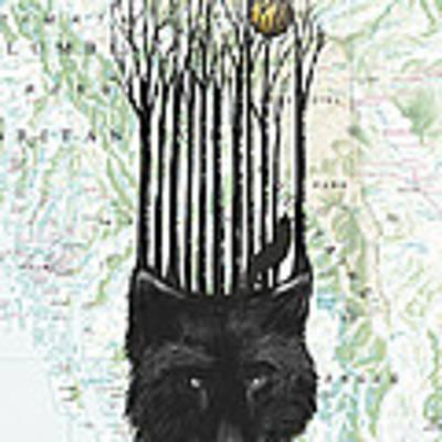Wolf Barcode Art Print