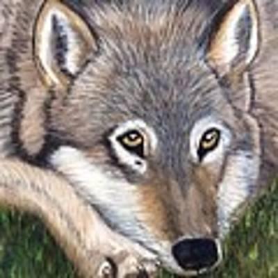 Wolf Art Print by Patti Ferron
