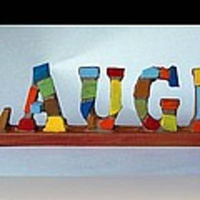 Laugh Art Print by Cynthia Amaral