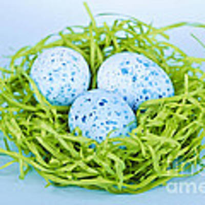 Blue Easter Eggs  Art Print