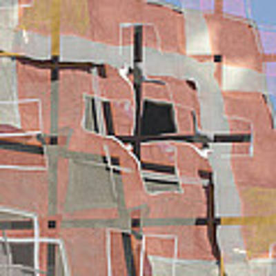 Urban Abstract San Diego Art Print by Carol Leigh