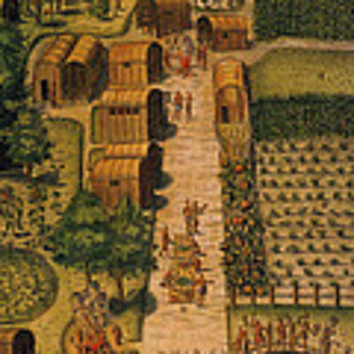 Algonquian Village 1585 Art Print