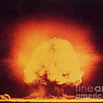 Atomic Bomb Explosion Art Print