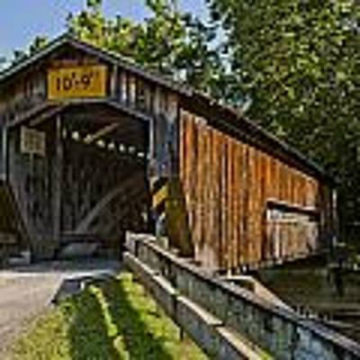 Benetka Road Covered Bridge Art Print by At Lands End Photography