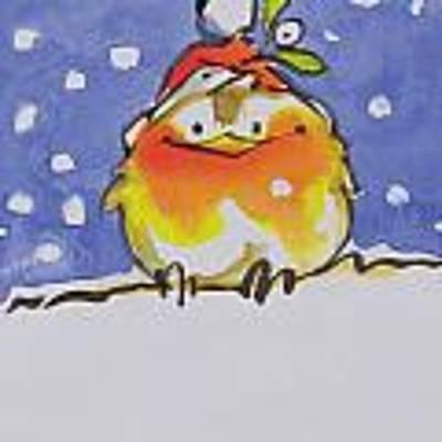 Christmas Robin Art Print