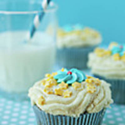 Cup Cake With Stars Topping Art Print
