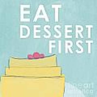 Dessert Art Print by Linda Woods