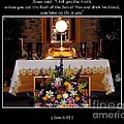 Eucharist Unless You Eat The Flesh Art Print by Rose Santuci-Sofranko