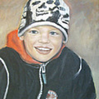 Finnish Boy Commission Art Print by Katalin Luczay