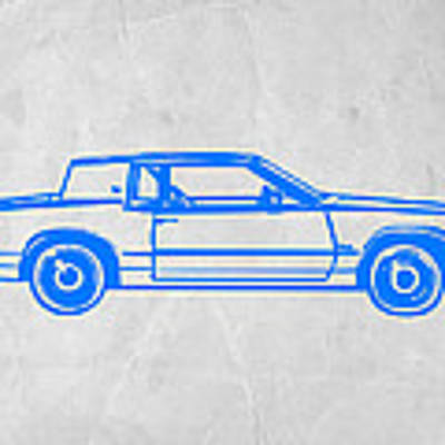 Gangster Car Art Print by Naxart Studio