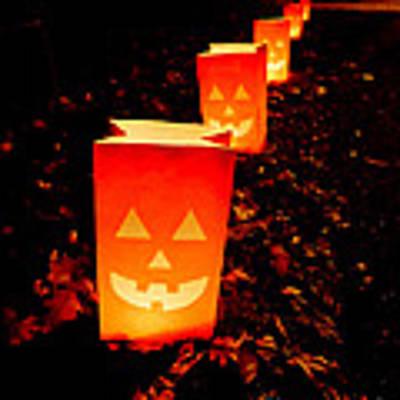 Halloween Paper Lanterns Art Print