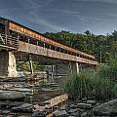 Harpersfield Road Bridge Art Print by At Lands End Photography