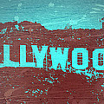 Hollywood Sign Art Print by Naxart Studio