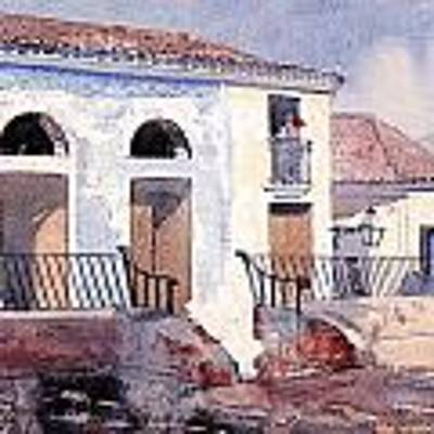 House In Santiago Art Print